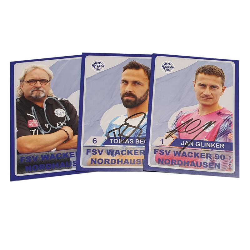 Wacker 90 Autogrammkartenset für Saison 19/20
